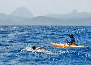 St Lucia Channel Swims Past Attempts. Credit St Lucia Tourism Authority