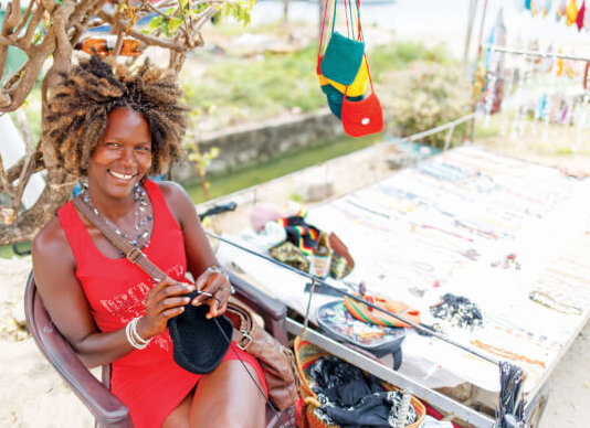 Craft Vendor, Bequia- SVG. Photo Credit-SVG Tourism Authority
