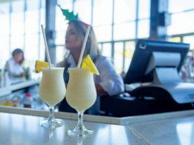 Pina Colada at Caribe Hilton