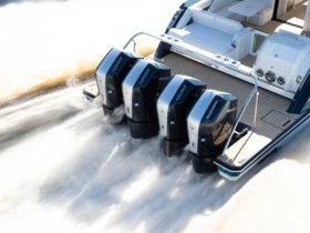 Mercury Marine's New 600hp V-12 Outboards underway