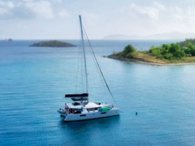 Yacht moored in the USVI