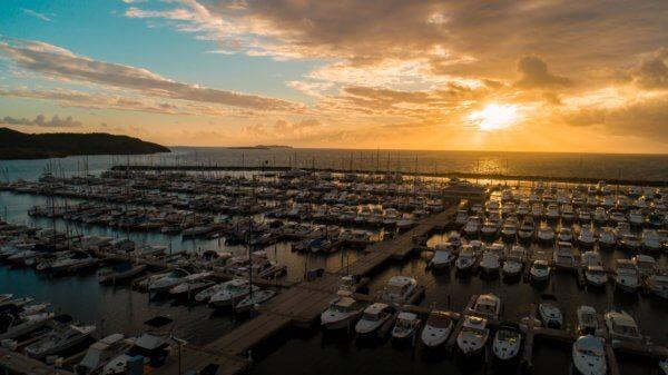 Sunrise over Puerto del Rey Marina