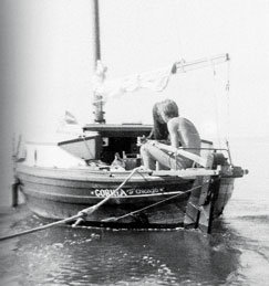 Fatty and a girlfriend on Corina in 1968.